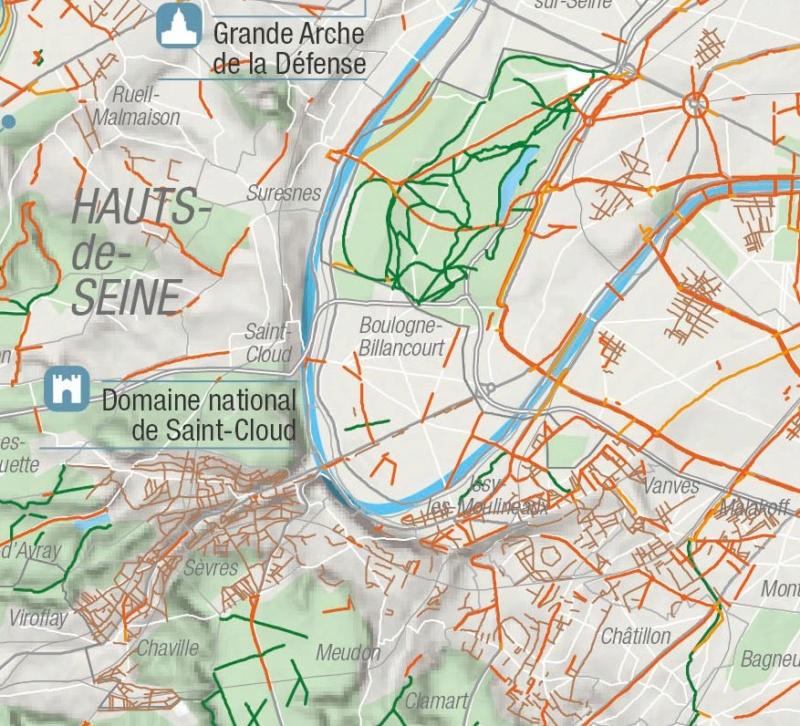 Carte des pistes cyclables Clipb462
