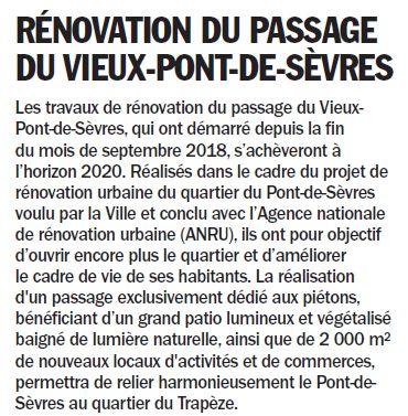 Rénovation du passage commercial du quartier du Pont de Sèvres Clipb467