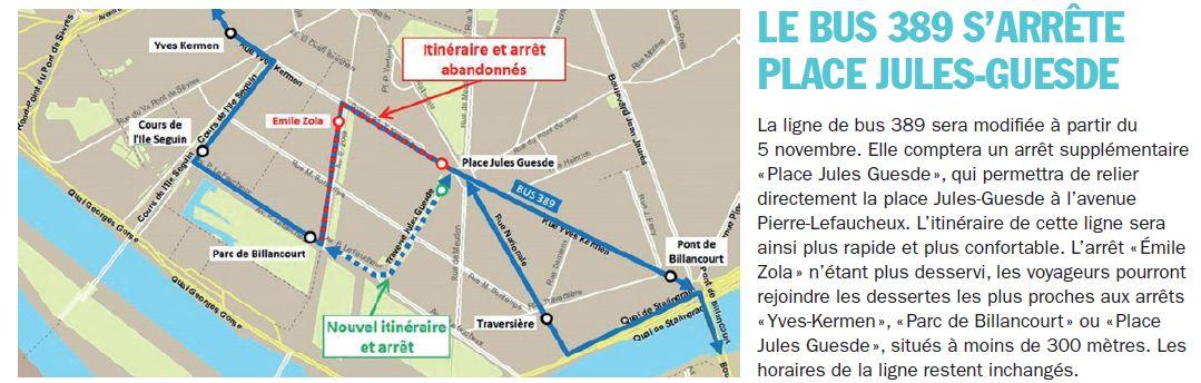 Bus 389 - Clamart - Trapèze - Hôtel de ville Boulogne-Billancourt Clipb472