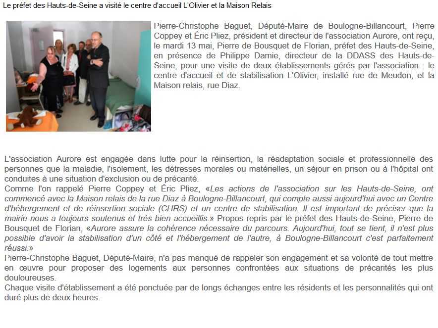 Association Aurore - Foyer de l'Olivier - Hébergement d'urgence pour SDF Clipb622