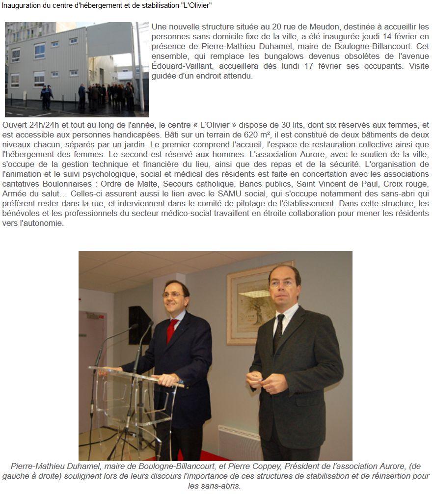 Association Aurore - Foyer de l'Olivier - Hébergement d'urgence pour SDF Clipb663