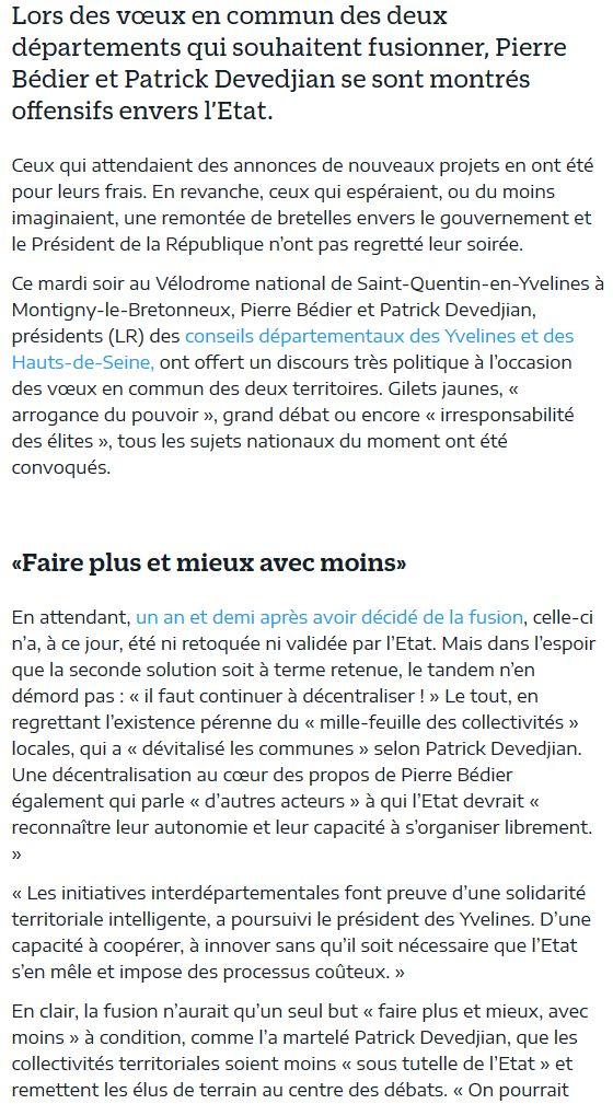 Fusion des départements des Hauts de Seine et des Yvelines Clipb737