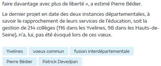 Fusion des départements des Hauts de Seine et des Yvelines Clipb738