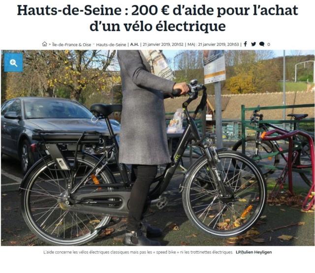Subvention à l'achat de vélos à assistance électrique Clipb752