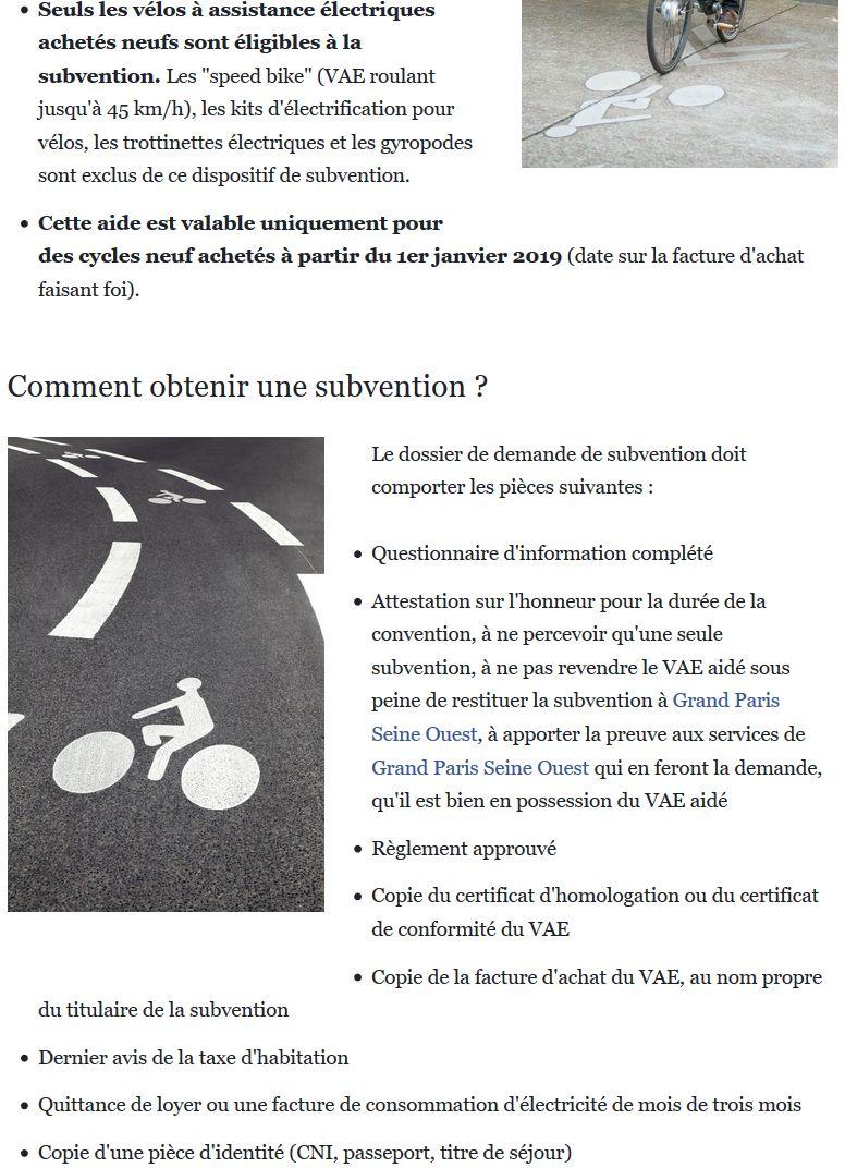 Subvention à l'achat de vélos à assistance électrique Clipb762