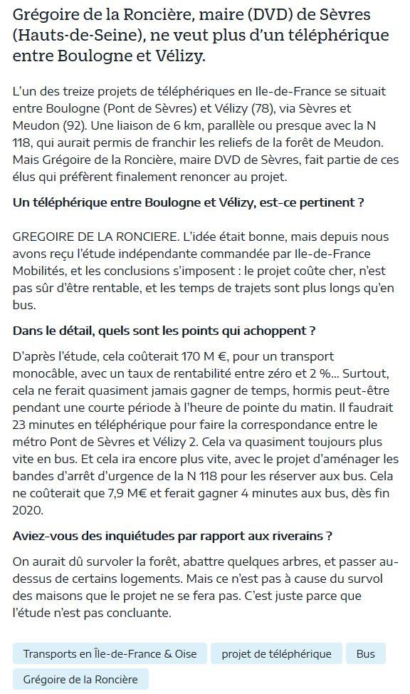 Téléphérique Boulogne-Billancourt (Pont de Sèvres) - Vélizy Clipb917