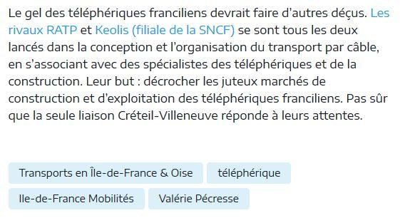 Téléphérique Boulogne-Billancourt (Pont de Sèvres) - Vélizy Clipb921