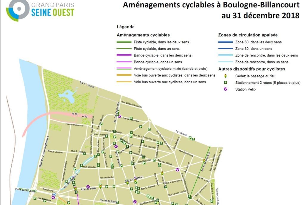 Carte des pistes cyclables Clipb974