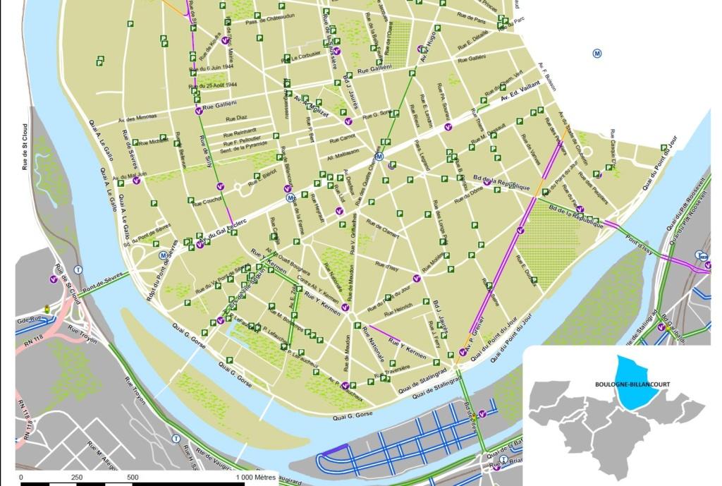 Carte des pistes cyclables Clipb975