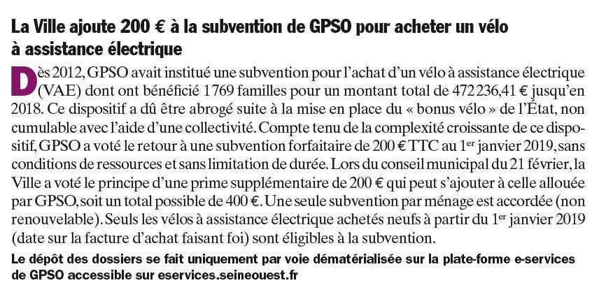 Subvention à l'achat de vélos à assistance électrique Clipb987