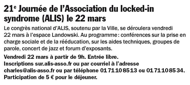Association du Locked-in Syndrome (ALIS) Clipb988