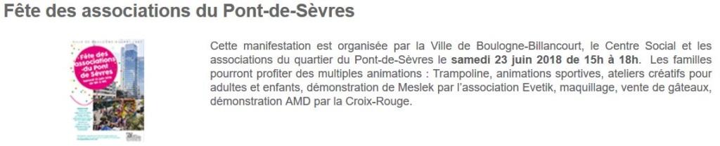 Fête des associations du Pont-de-Sèvres Clipbo57