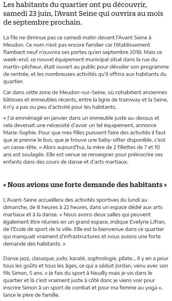 Pôle d'activités et de sport de Meudon : Avant Seine Clipbo68
