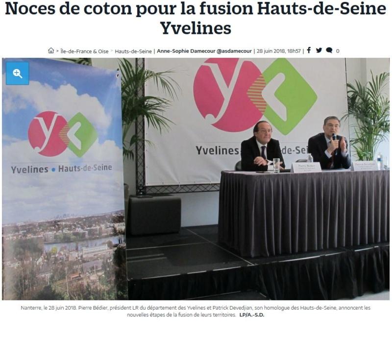 Fusion des départements des Hauts de Seine et des Yvelines Clipbo90