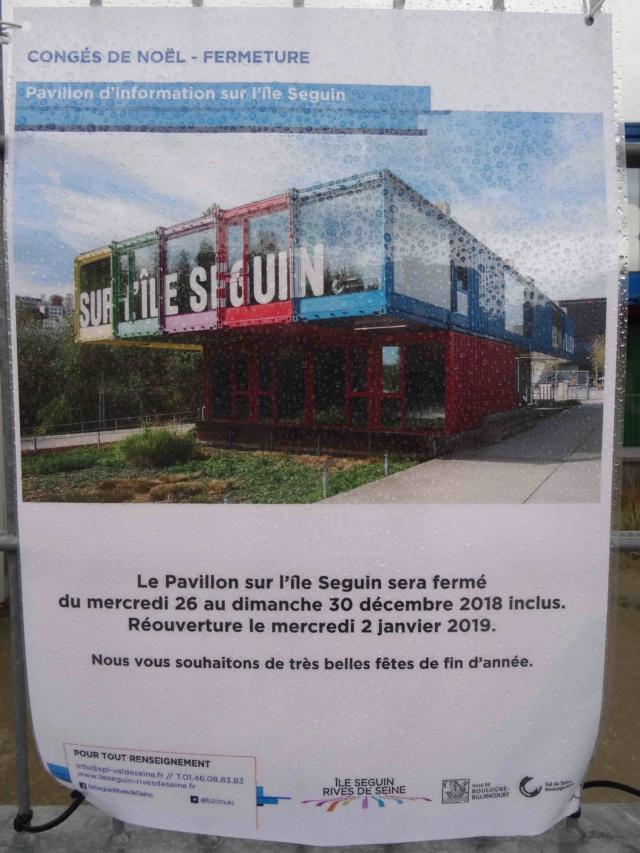Pavillon d'informations de la SAEM / SPL sur l'île Seguin (et le trapèze) Dsc01132