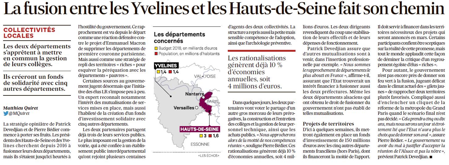 Fusion des départements des Hauts de Seine et des Yvelines Echos_10