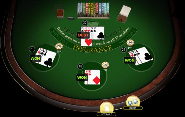 Blackjack wygrana