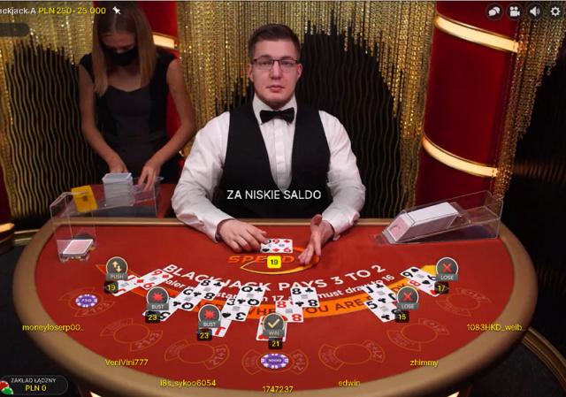 Blackjack na żywo