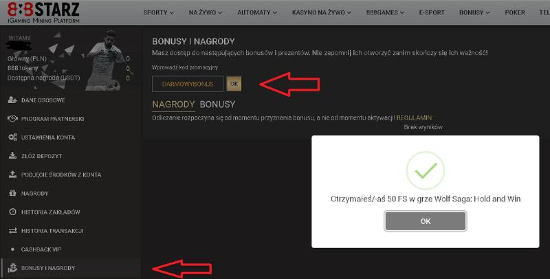 888starz kasyno online 50 darmowych spinów bez depozytu Bonus11