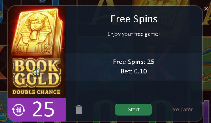 Winludu kasyno online 25 darmowych spinów bez depozytu Bookof10