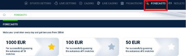 20Bet typuj mecze i odbierz nawet 1000 EUR Foreca10