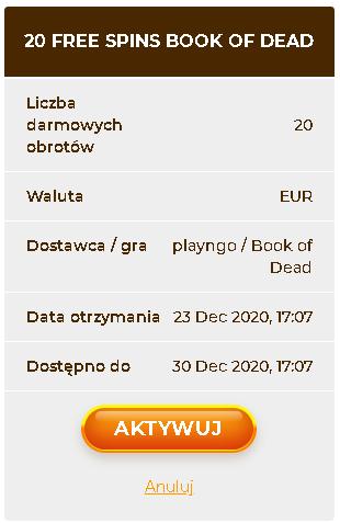 AmunRa kasyno online 20 darmowych spinów bez depozytu (exclusive) Spins10