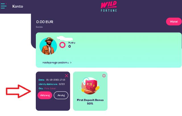WildFortune kasyno online 20 darmowych spinów bez depozytu (exclusive) Spiny16