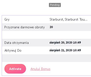 Slotum Casino 20 darmowych spinów bez depozytu (exclusive) - Page 2 Starbu10
