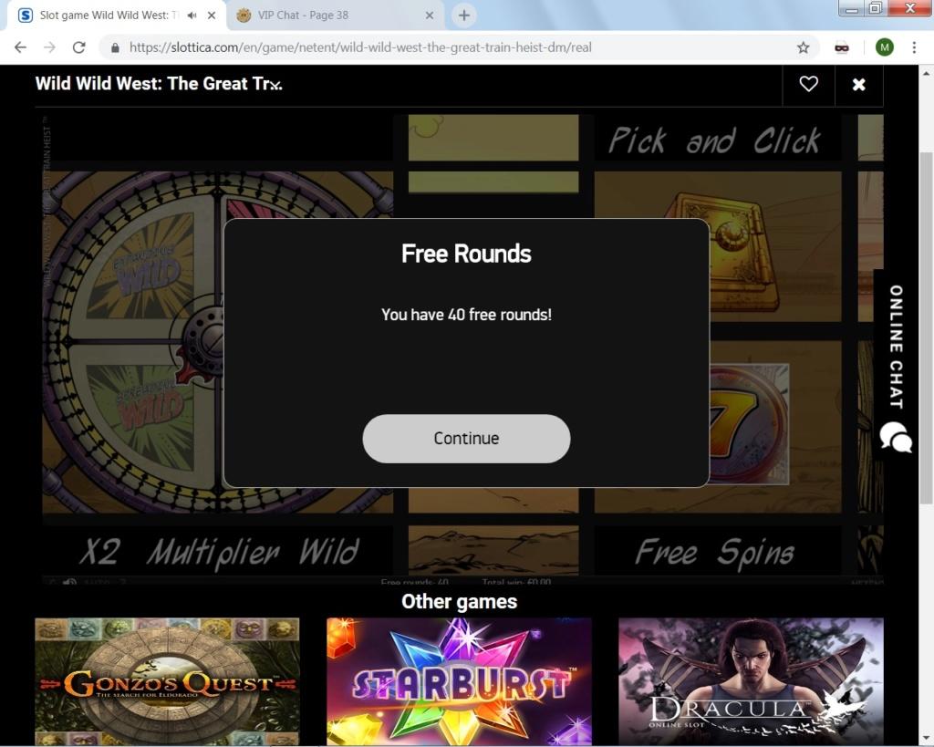 Slottica 40 Free Spins no deposit bonus Slotti10