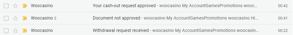 Woocasino - wypłaty i weryfikacja Woocas10