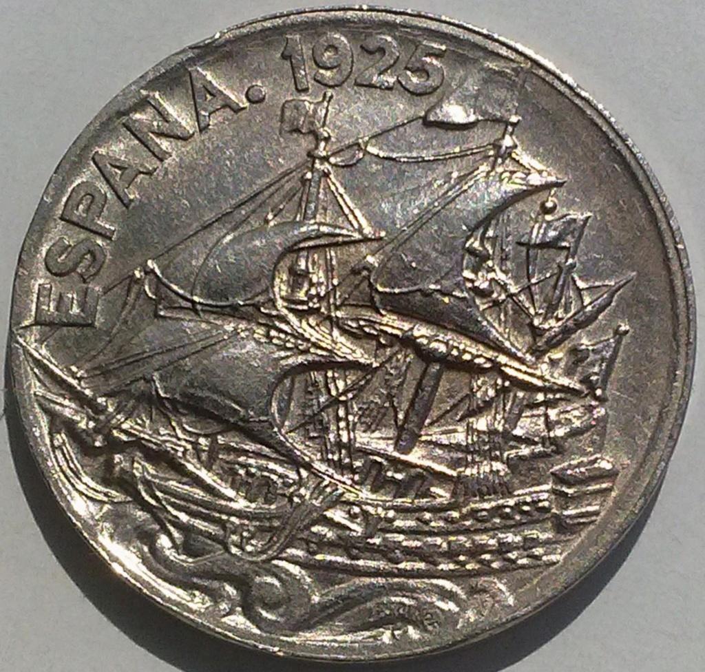 25 céntimos 1925 (Carabela). Alfonso XIII 25_czo11