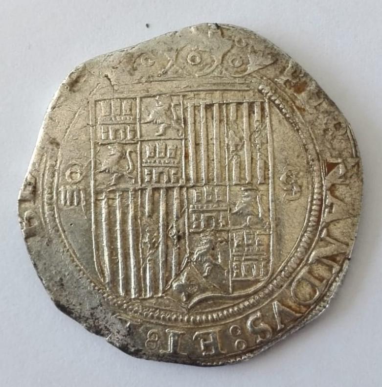 4 Reales acuñados durante el reinado de Felipe II a nombre de los Reyes Católicos 4_real13