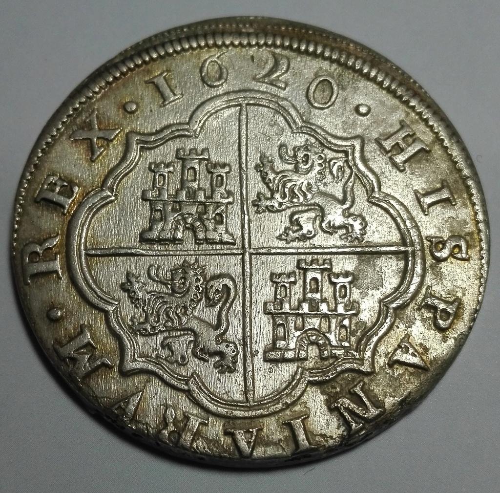 8 Reales de Felipe III de 1620 acuñados en el Real Ingenio de Segovia. Lance dedit. 8_real19