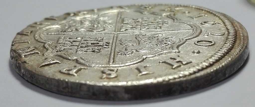 8 Reales de Felipe III de 1620 acuñados en el Real Ingenio de Segovia. Lance dedit. 8_real20