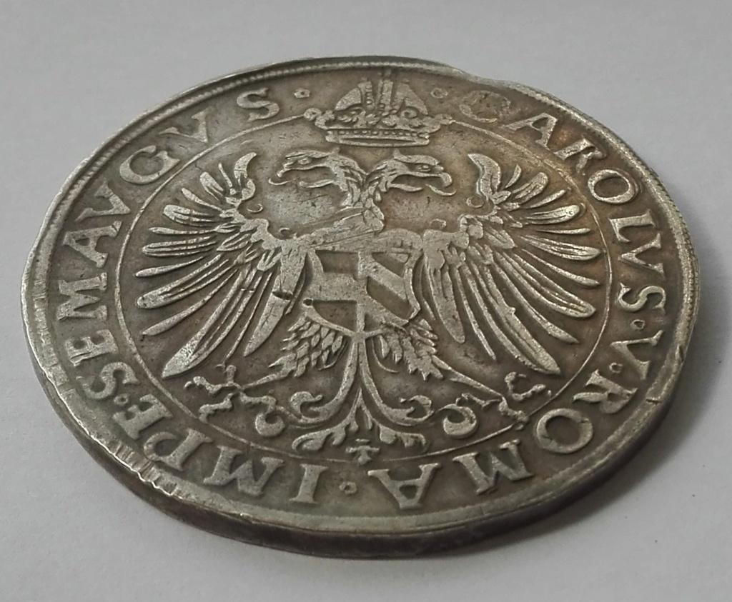 1 Táler de Carlos I de España como Carlos V, de 1547. Obispado de Ratisbona Anvers12