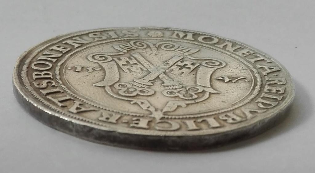1 Táler de Carlos I de España como Carlos V, de 1547. Obispado de Ratisbona Revers12