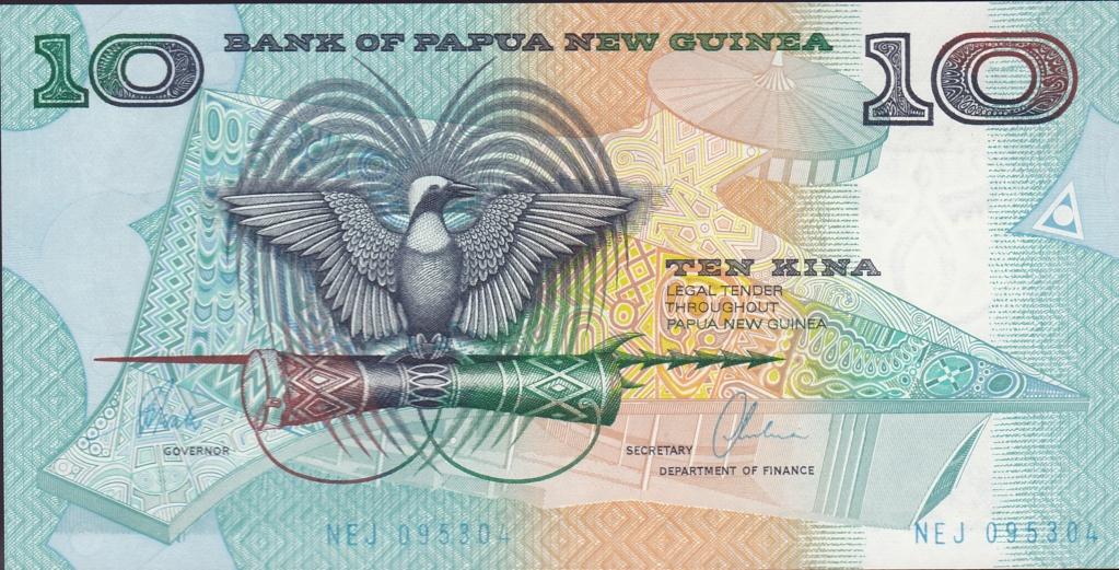 ¿Se pueden coleccionar todos los billetes de un país? PAPUA NUEVA GUINEA 10_kin21