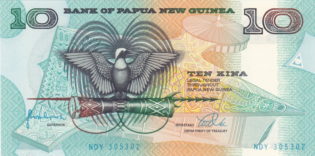 ¿Se pueden coleccionar todos los billetes de un país? PAPUA NUEVA GUINEA 10_kin25