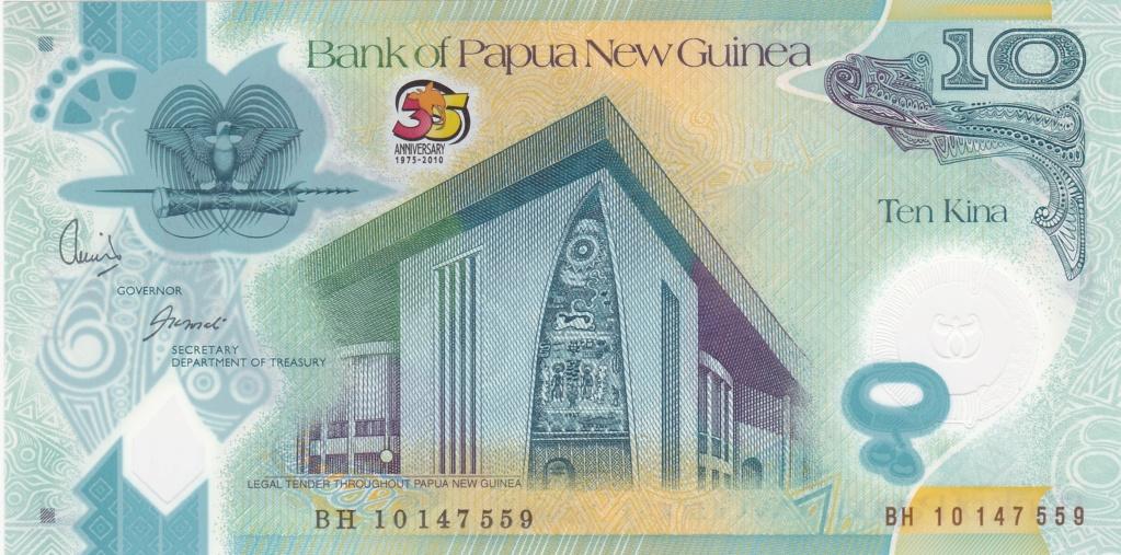 ¿Se pueden coleccionar todos los billetes de un país? PAPUA NUEVA GUINEA 10_kin34