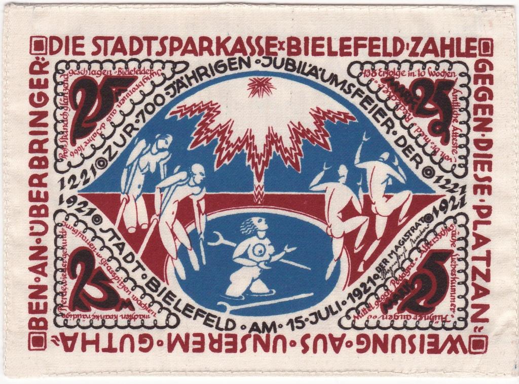25 Marcos de 1921 en seda 1921_g10