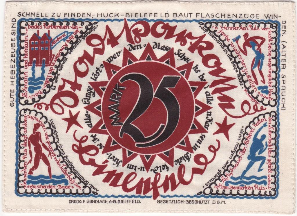 25 Marcos de 1921 en seda 1921_g11