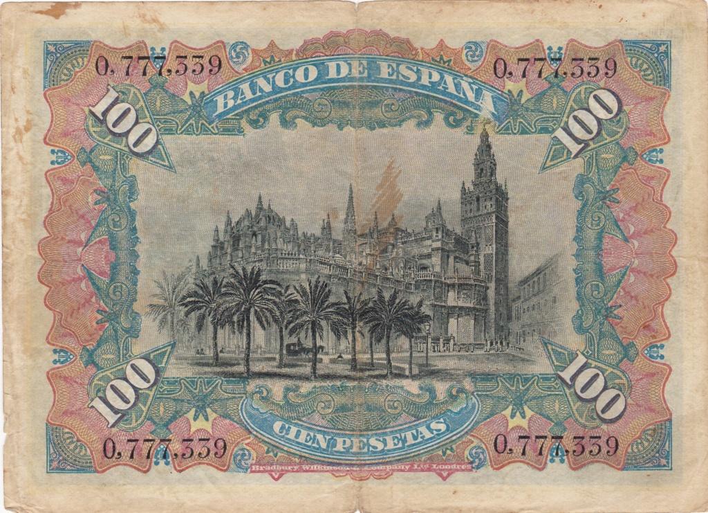 100 Pesetas 1907 (Doble Sello Seco) 1931_p11