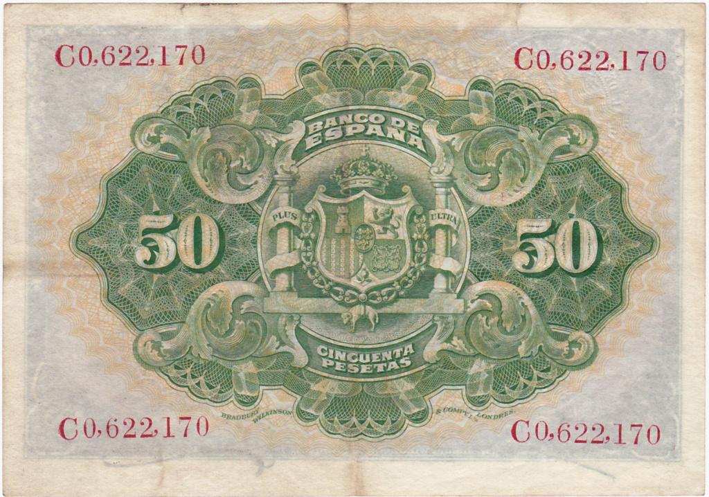 50 Pesetas 1906 - Sello Seco República 1931_p12