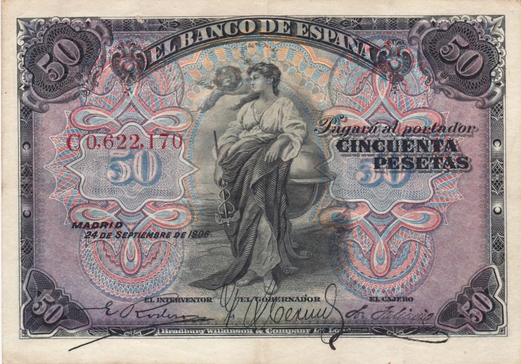 50 Pesetas 1906 - Sello Seco República 1931_p13