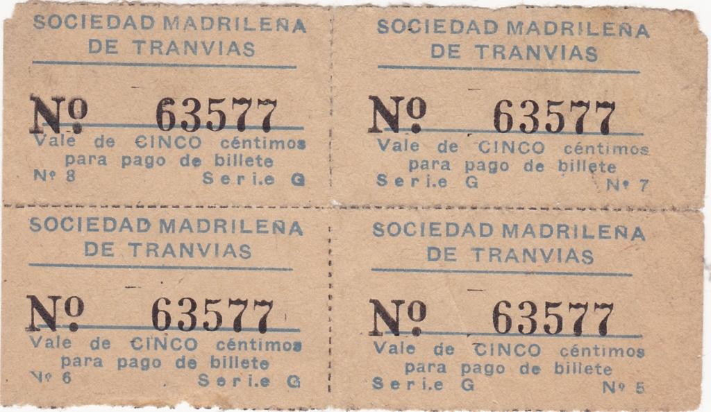 Madrid - Sociedad Madrileña de Tranvías - 5 céntimos (bloque) 1937_m13