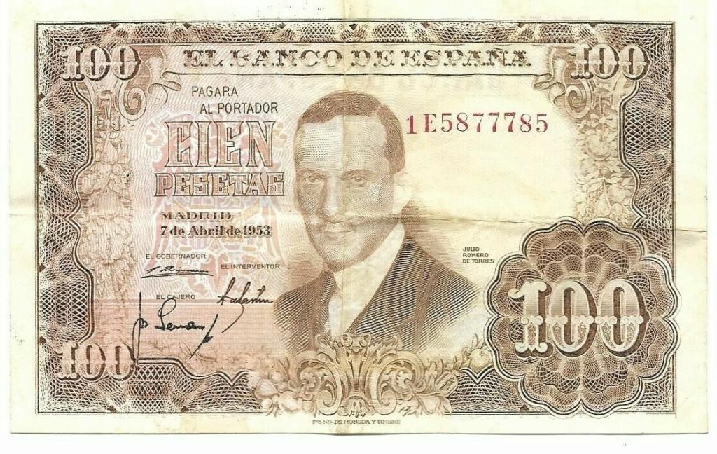 Investigación - Billetes de 100 pts 1953 Romero de Torres 1e10