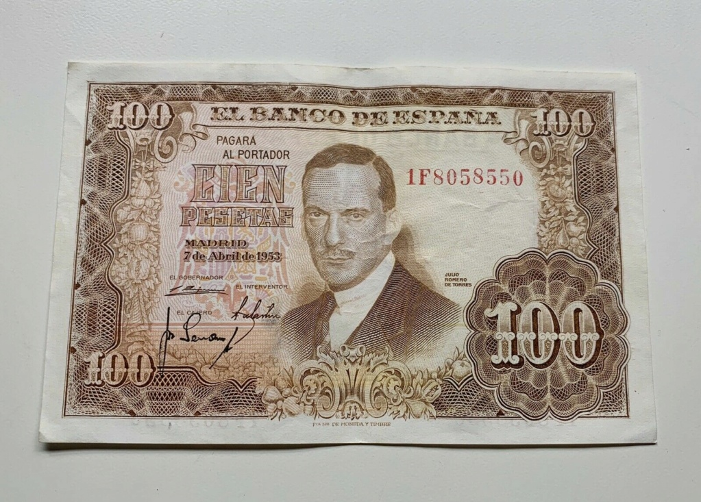 Investigación - Billetes de 100 pts 1953 Romero de Torres 1f10