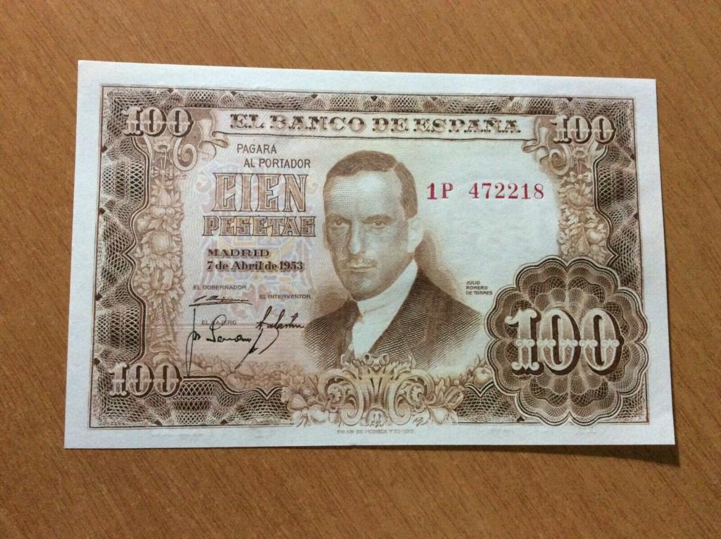 Investigación - Billetes de 100 pts 1953 Romero de Torres 1p10