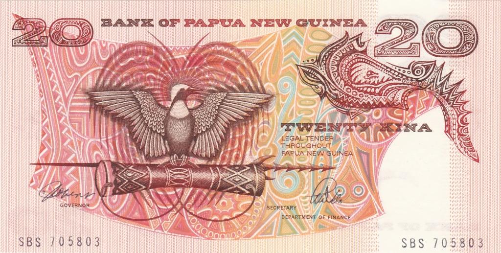¿Se pueden coleccionar todos los billetes de un país? PAPUA NUEVA GUINEA 20_kin12