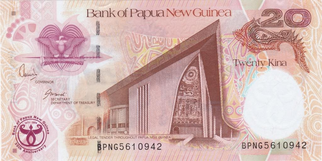 ¿Se pueden coleccionar todos los billetes de un país? PAPUA NUEVA GUINEA 20_kin31